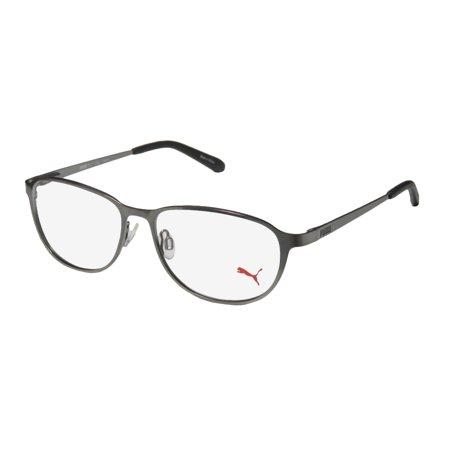 d416e031dd7a New Puma 15413 Mens/Womens Designer Full-Rim Gray Genuine Contemporary High  Quality Frame Demo Lenses 54-15-140 Flexible Hinges Eyeglasses/Spectacles  ...