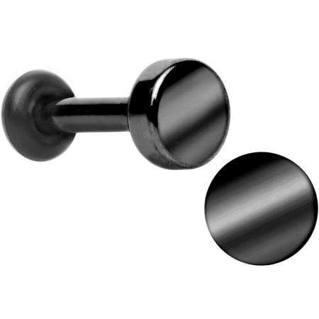 - Body Candy Titanium Plated Steel Black Flat Top Single Flare Plug Set 14 Gauge