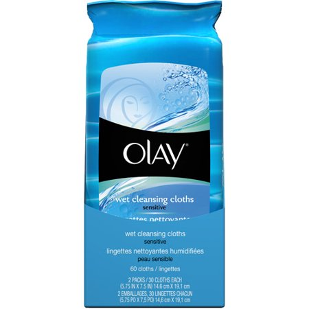 P Amp G Olay Wet Cleansing Cloths 2 Ea Walmart Com