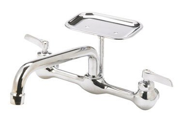 Picture of: Trad Faucets 123 009nl Wall Mount Kitchen Faucet With Soap Dish Walmart Canada