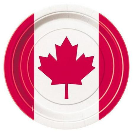 Maple Leaf Canada Day Dessert Plates, 8Pcs - image 1 de 1