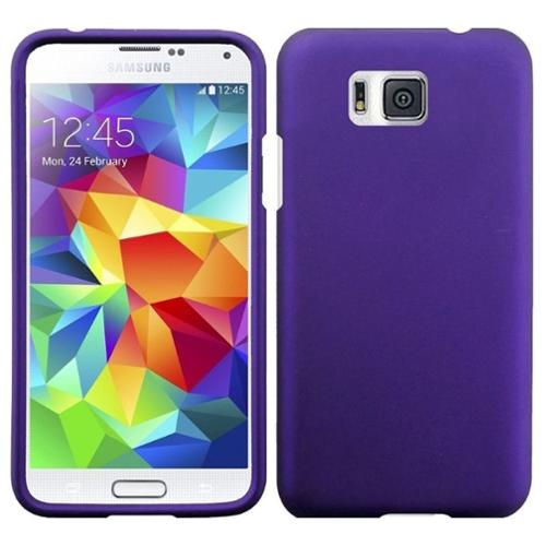 Insten Hard Rubber Coated Cover Case For Samsung Galaxy Alpha - Purple