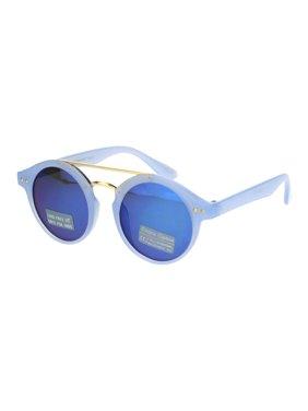 334b7ebef7 Product Image Girls Kid Size Mod Plastic Retro Designer Round Circle Lens  Sunglasses Pink Peach Mirror. SA106