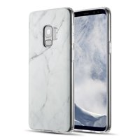 MUNDAZE Classic White Marble Design TPU Case For Samsung Galaxy S9 Phone