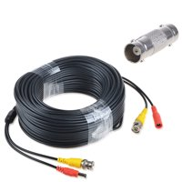 ABLEGRID 150ft Black BNC Video Power Wire Cord for Swann Night Owl CCTV Cameras Cable Black