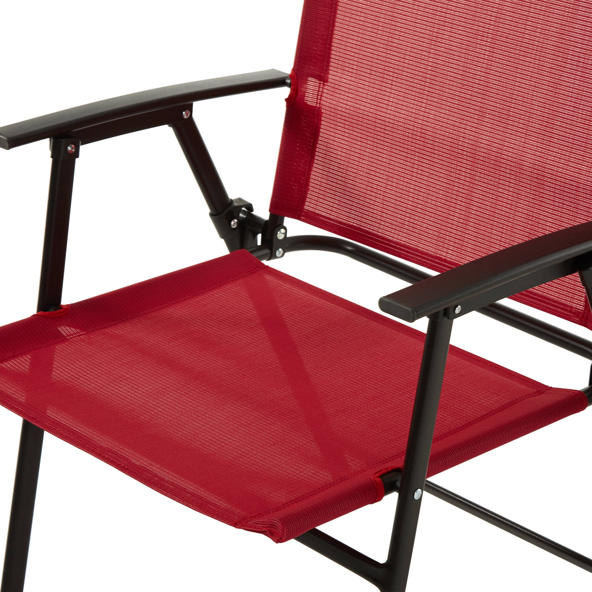 Mainstays Pleasant Grove 6 Piece Sling Folding Set Red Walmart