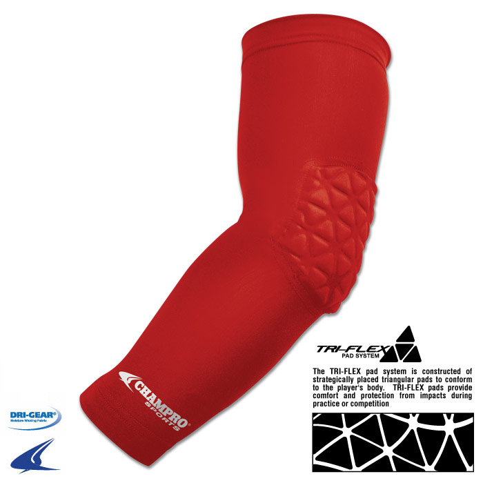 Champro Arm Sleeve With Elbow Padding (Royal, Youth)