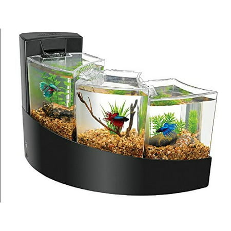 Aqueon Betta Falls Aquarium, Black