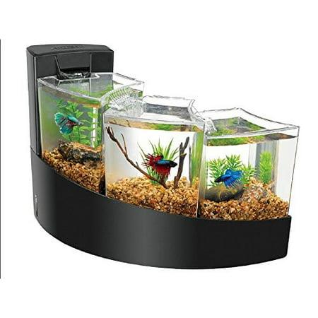 Aqueon Betta Falls Aquarium, Black (Best Toys For Betta Fish)