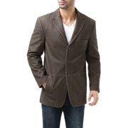 "BGSD Men's ""Nathan"" Three-Button Distressed Cowhide Leather Blazer - M"