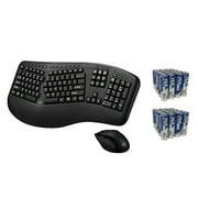 Adesso WKB-1500GB Tru-form Media 1500 Wireless Ergonomic Keyboard & Laser Mouse & Fiji AA 40 PK