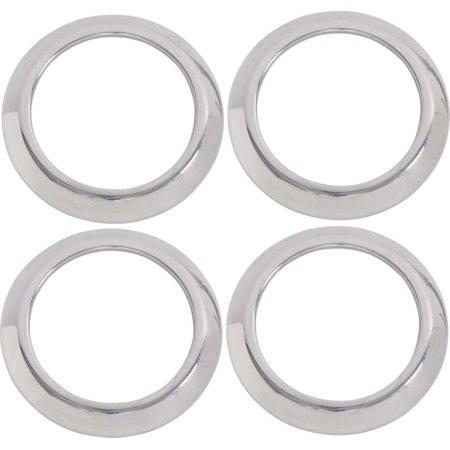 Kentrol  30004 Jeep Wrangler JK - 2007-10 Air Vent Bezels (4 pieces) Polished Stainless Steel