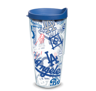 MLB Los Angeles Dodgers All Over 24 oz Tumbler with lid