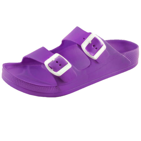 525d0439bd3e Women's Lightweight Comfort Soft Slides EVA Adjustable Double Buckle Flat  Sandals (FREE SHIPPING)
