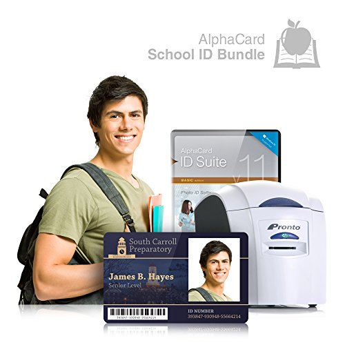 School Id Card Printer System For Student Teachers And Administrators Everything You Need For Your School Alphacard Printer Design Software Id Supplies Walmart Com Walmart Com