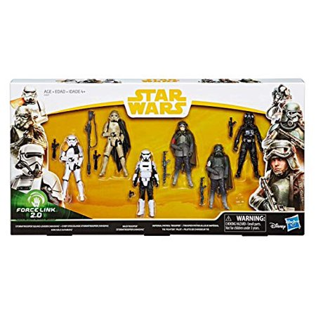 Star Wars Force Link 2.0 Tie Fighter Pilot, Stormtrooper Squad Leader, Han Solo, Mudtrooper, Stormtrooper (Mimban) & Imperial Patrol Trooper Action Figure (Imperial Forces Gift)