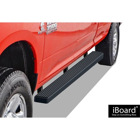 "iBoard Running Boards 4"" Matte Black Custom Fit 2009-2018 Ram 1500 Crew Cab Pickup 4Dr (Incl. 2019 Ram 1500 Classic)& 2010-2019 Ram 2500/3500 (Nerf Bars 