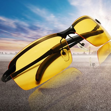 Yellow Lens Polarized Eyeglasses Sunglasses Night Vision Glasses Sport Outdoor Driving Riding Goggles Anti-Glare UV
