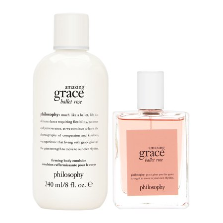 Grace Gift Set - Philosophy Amazing Grace Ballet Rose Set 2 Piece Set: 2 oz Eau de Toilette Spray + 8 oz Body Emulsion