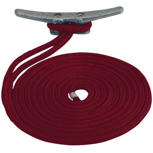 "Sea Dog Dock Line, Double Braided Nylon, 3 8"" x 15', Red by Sea Dog"