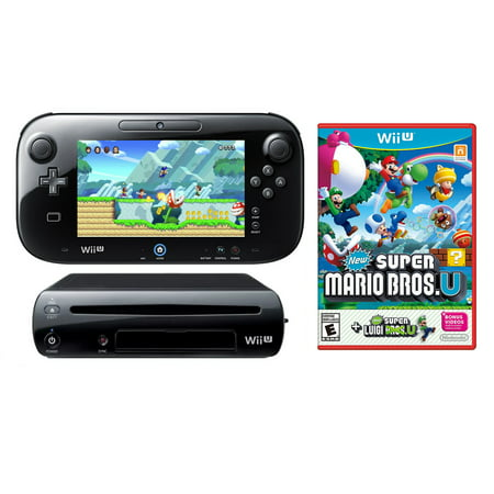 Refurbished Nintendo Wii U 32GB Video Game Console with Super Mario Bros U + Luigi U Games - Super Products New Berlin Wi