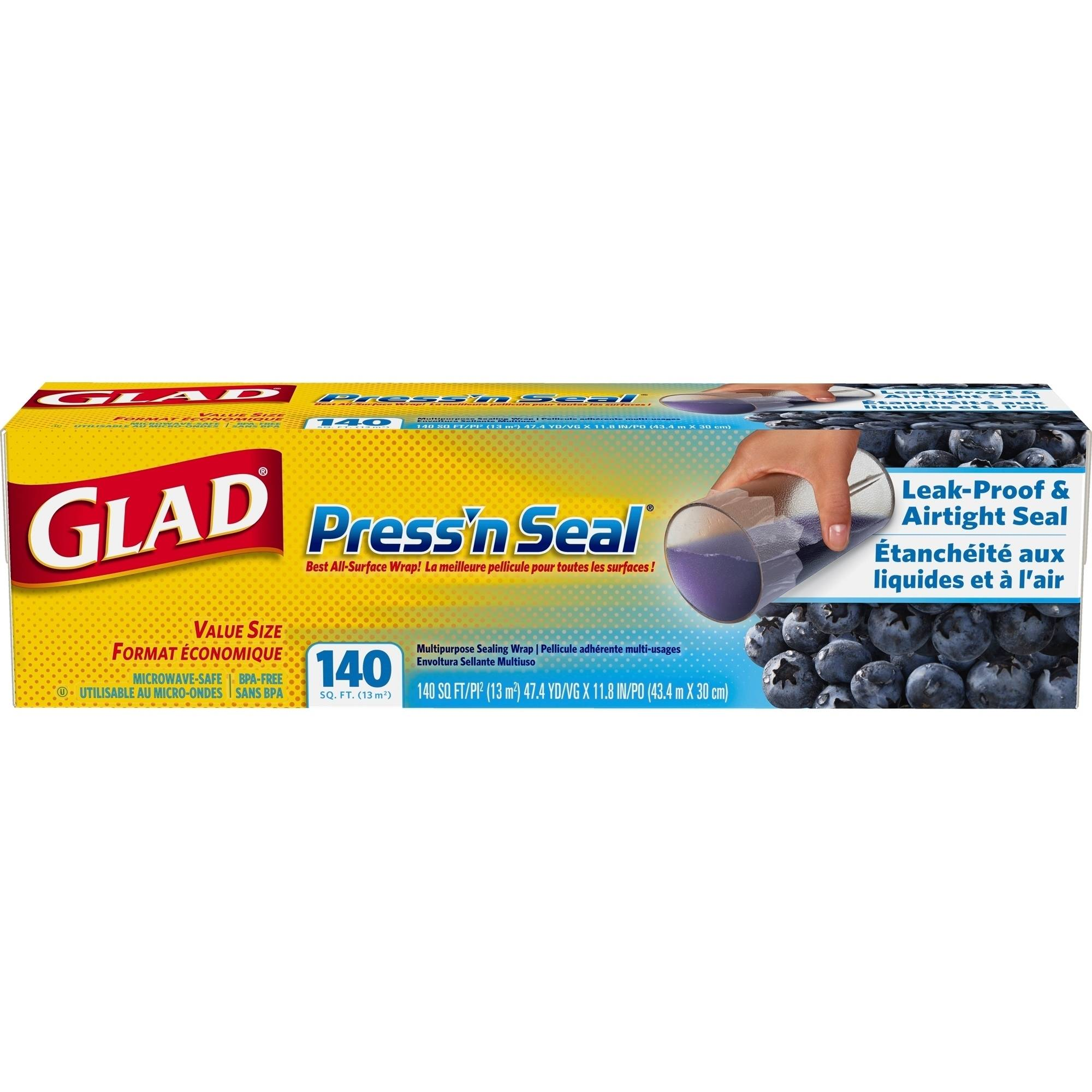 Glad Press'n Seal Wrap, 140 Square Foot Roll
