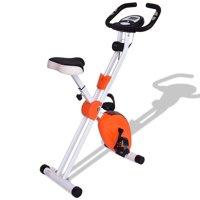 """45"""" Folding Adjustable Resistance Magnetic Exercise Bike - Black"""