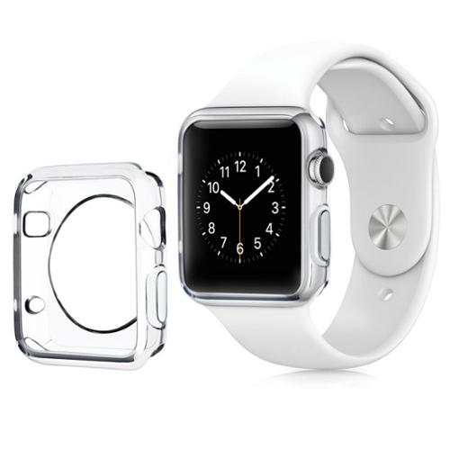 Apple Watch Case, by Insten Clear Transparent Ultra Thin Protective TPU Rubber Gel Bumper Case For Apple Watch 38mm