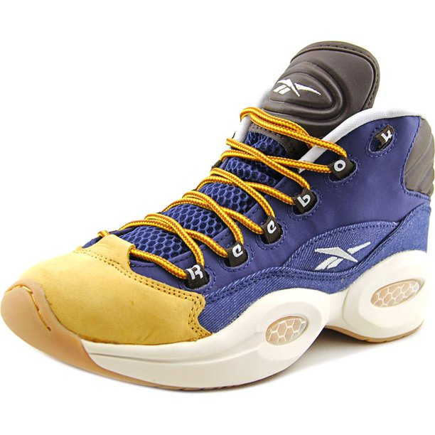 Reebok Question Mid Boy Round Toe Athletic Shoes Walmart Com Walmart Com