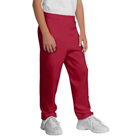 Port & Company® - Youth Core Fleece Sweatpant.  Pc90yp Red L - image 1 of 1