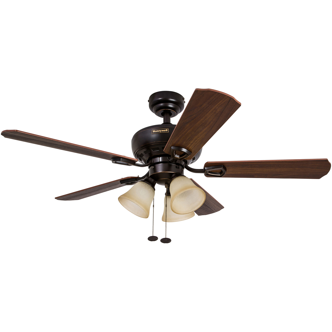"44"" Honeywell Springhill Oil Rubbed Bronze Ceiling Fan with 3 Light"