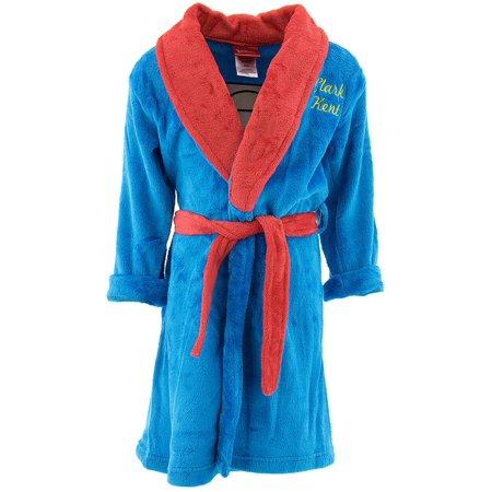 Superman Little Boys' Plush Robe (Sizes 4 - 7)