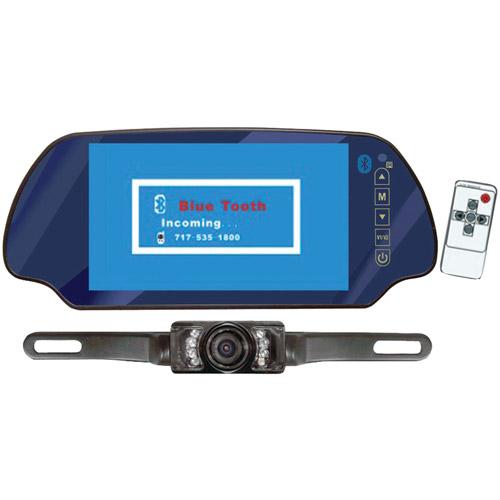 "Pyle PLCM7300BT 7"" TFT Mirror Monitor/Backup Night Vision Kit with Bluetooth"