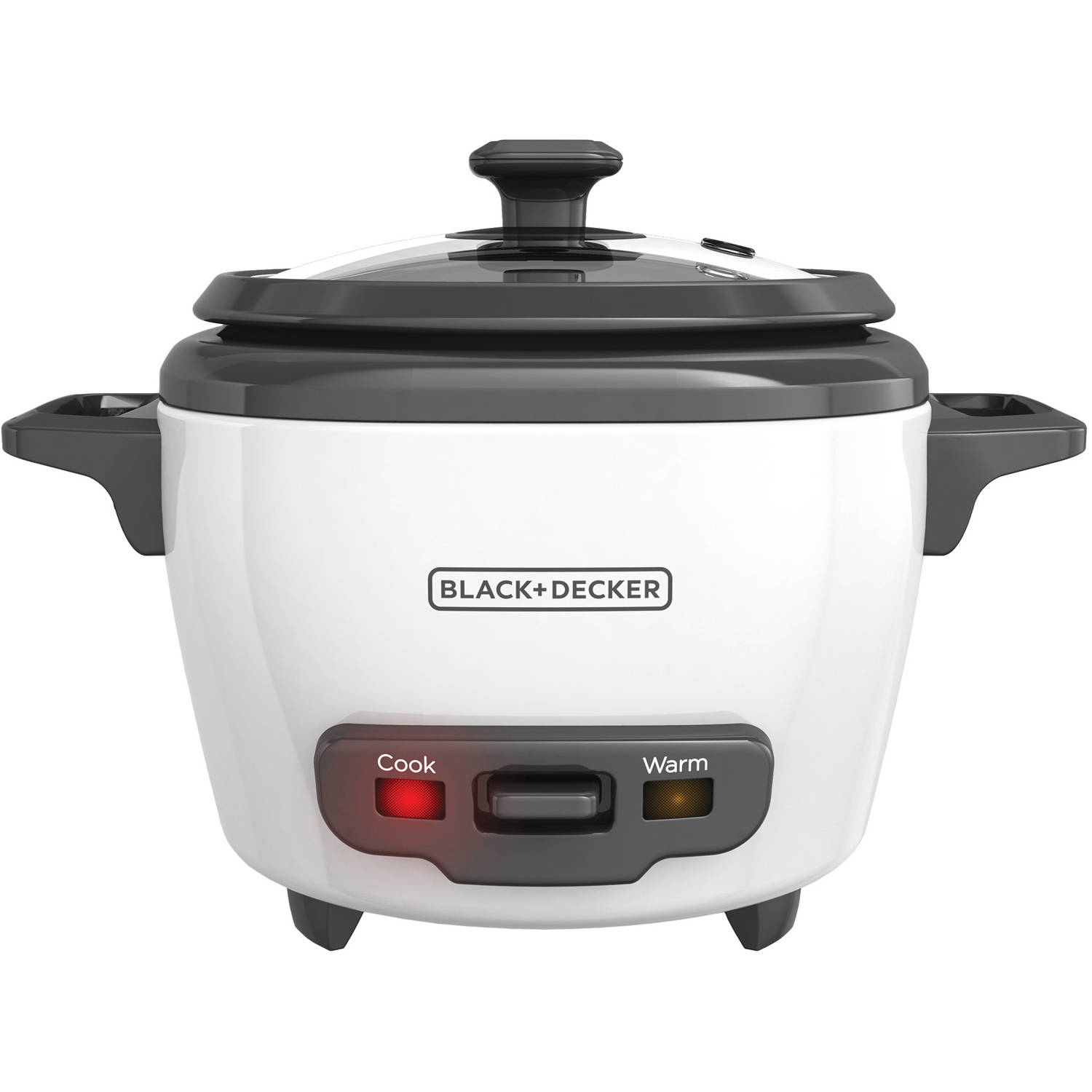 BLACK+DECKER 3-Cup Rice Cooker, White, RC503
