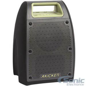 Kicker Bullfrog Jump - Green/Black (43BF400) Outdoor Waterproof Bluetooth Speaker W/ FM Tuner & 20 Hour Battery life