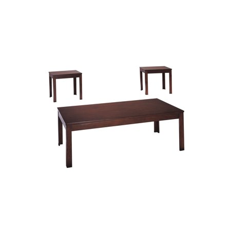 - ACME Java 3-Piece Pack Coffee/End Table Set, Cherry