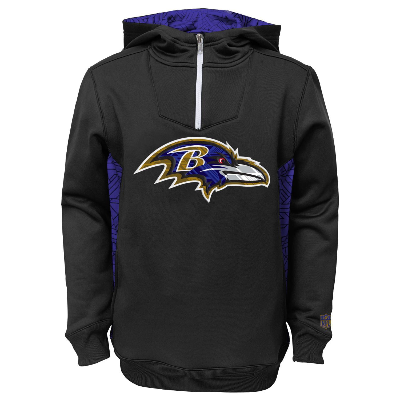 "Baltimore Ravens Youth NFL ""Power Logo"" Performance Hooded Sweatshirt"