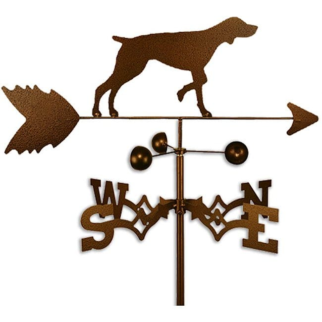 SWEN Products Inc Handmade German Shorthair Dog Copper Weathervane by Overstock