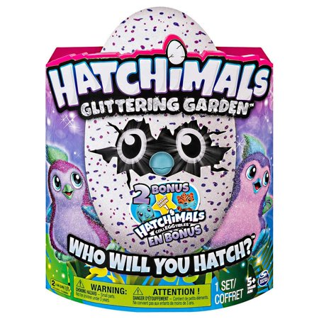 Hatchimals Glittering Garden   Hatching Egg   Magical Interactive Creature   Sparkly Penguala With Soft Shimmering Fur And Twinkling Wings  Two Bonus Colleggtibles   Purple Magenta By Spin Master
