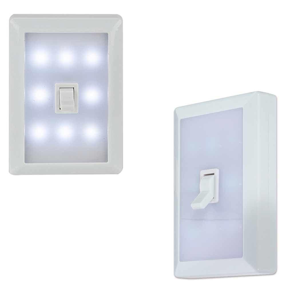 Night light at walmart - 8 Led Peel Stick Switch Cover Wall Night Light White Tool Box Garage Home Closet