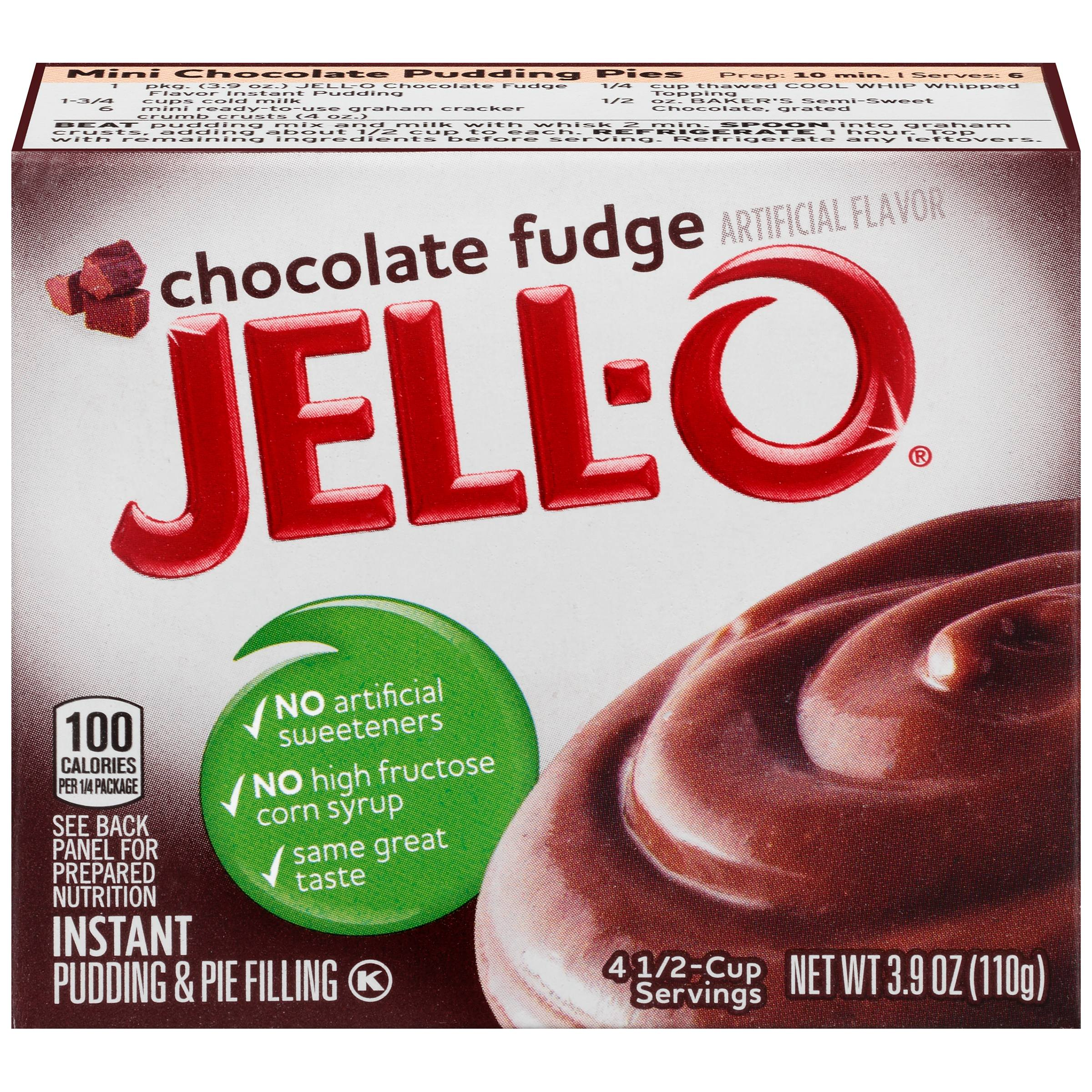 Jell-O Chocolate Fudge Instant Pudding & Pie Filling Mix 3.9 oz. Box