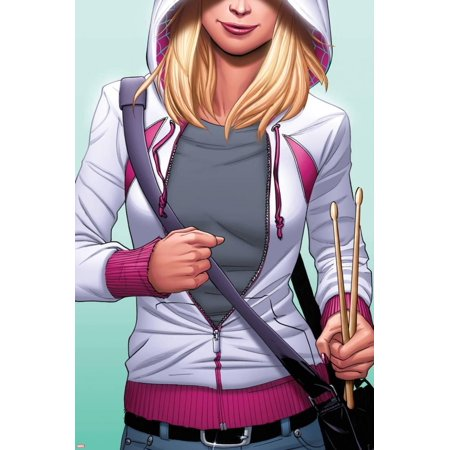 Spider-Gwen No. 6 Cover Featuring Gwen Stacy, Spider-Gwen Print Wall Art By Emanuela - Gwen Stacy Oscorp