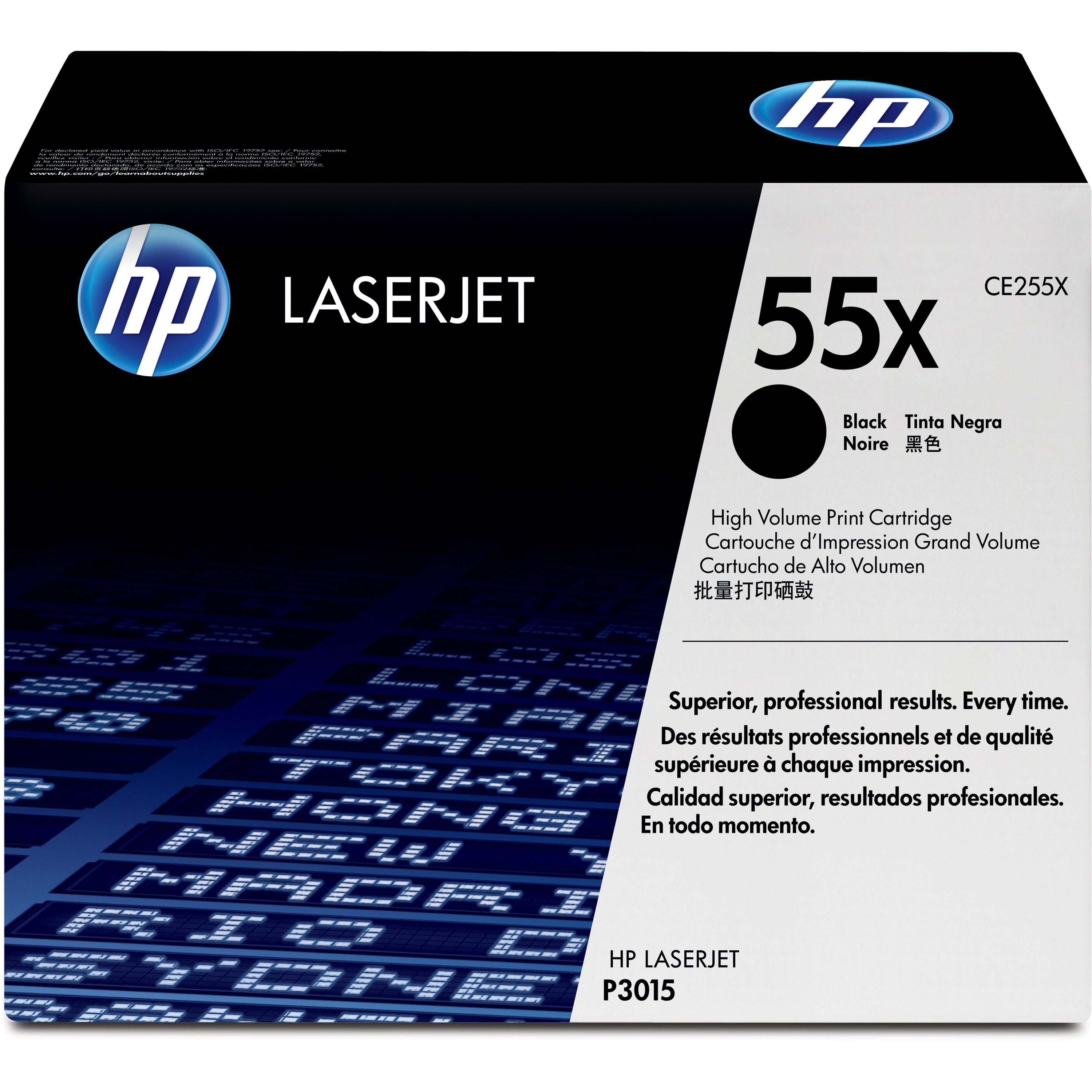 HP 55X Original Toner Cartridge - Single Pack, 1 Each (Quantity)