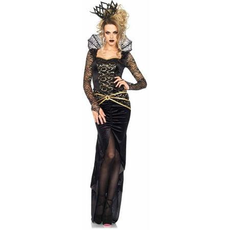 Leg Avenue Women's Deluxe Evil Queen Villain Halloween Costume, X-Large, (Women's Deluxe Evil Queen Costumes)
