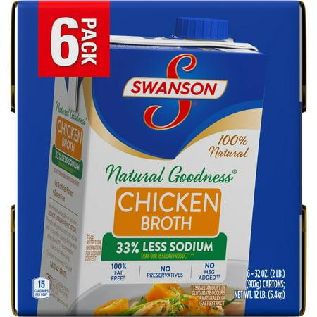 Product of Swanson 100% Natural Chicken Broth, 6 ct./32 oz. [Biz