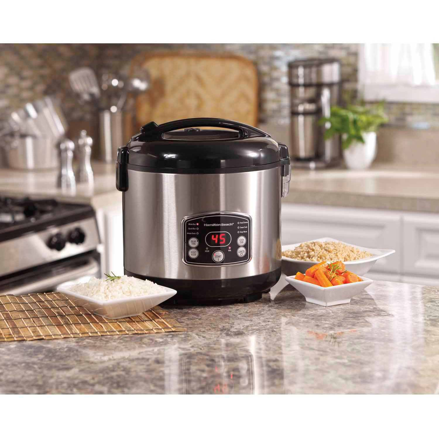 Hamilton Beach 5 Quart Digital Rice Steamer Cooker | Model# 37541