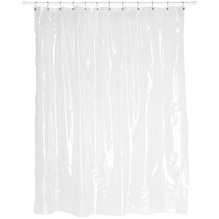Super Clear 10-Gauge Anti Mildew 72-Inch by 72-Inch Shower Curtain Liner, Anti Mildew treated material By Carnation Home