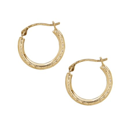 67f402a9b28e22 Ritastephens - 14k Yellow Gold Baby Hoops Hoop Earrings Tubular ...