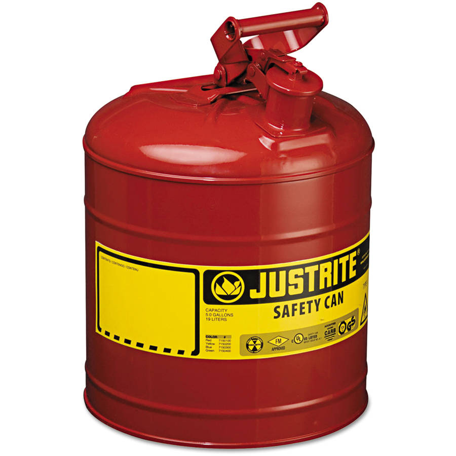 JUSTRITE Safety Can, Type I, 2.5gal, Red