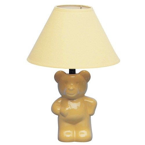 ORE Furniture Ceramic Teddy Bear 7.5'' H Table Lamp with Empire Shade